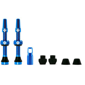 Muc-Off MTB & Road Tubeless Valve Kit 60 mm blue